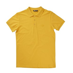 Bad Bear Basic Pique Polo T-Shirt MUSTARD