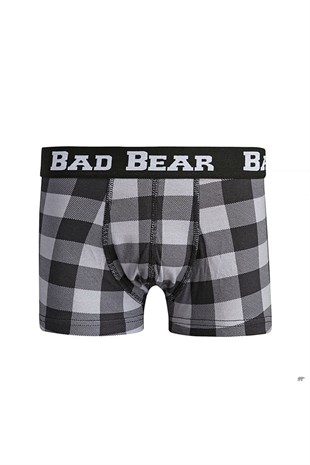 Bad Bear Checked Boxer RAVEN