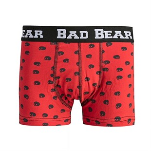 Bad Bear Skull Boxer MAROON
